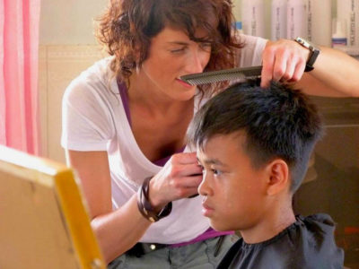 Esther_haircutting
